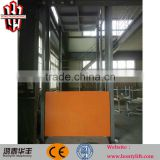 Factory direct sale warehouse hydraulic residential onground cargo guide rail lifting platform