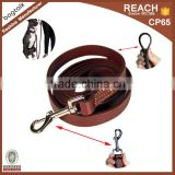 New Arrival Black And Brown Leather Dog Leash