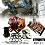 Racing Part EF EG EK SI Adjustable Coilover Suspension Kit, Red Aluminum Coilover Springs