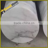 China carrara white marble vanity table makeup vanity round table top wholesale