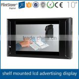 Flintstone 10 inch shelf mounted lcd touch screen display with time function, long life span