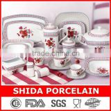 porcelain dinner plates 121PCS SQUARE SHAPE PORCELAIN DINNERWARE SET EGYPTIAN STYLE FLORAL DESIGN DINNERWARE SET SDG301