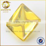 Yellow topaz gemstone square shaped big cubic zirconia stone, cabochon cut cz gemstone wholesale loose gemstones                                                                                                         Supplier's Choice