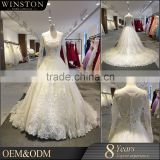 100% Real Photos Custom Made korean casual dress appliqued strap keyhole back women bridal dresses