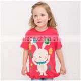 OEM/ ODM Children's T-Shirts little rabbit 100% cotton high quality fabric and paint care every inch of your sweetheart skin