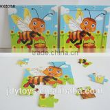 New design wooden cartoon bee puzzle,Educational toy puzzle game for kid