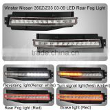 Clear or Smoked Lens All-In-One LED Turn Signal, Backup Reverse, Brake Light Assembly For 2003-2009 Nissa.n 350Z / Z33