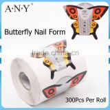 ANY Paper Full Cover Butterfly Nail Form In Nail Form New 2015                                                                         Quality Choice