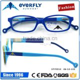 2016 Popular Fashion Design Eyeglass Colorful Fancy Acetate Optical Frame Kids Children Glasses With Spring hinge