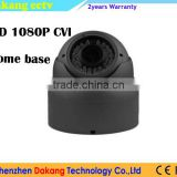 grey color HD CVI/CVBS 1080P dome camera with junction box,Motorized auto focus 2.8~12mm lens,Zoom control by DVR PTZ