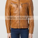 Top quality motorcycle man brand name fashion leather jackets
