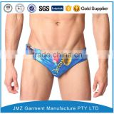 custom OEM wholesale swim briefs swimwear for mens polyester with your own print design new 2016 low moq China supplier