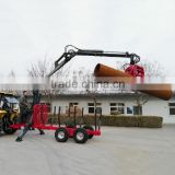 CE certificate ZM1002 1 ton ATV Log trailer with crane for sale