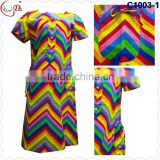 C1003 May promotion newest popular loose comfortable color special pattern long dress soft material African dress