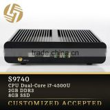 Computer factory direct oem i7-4500U Dual core Turbo Boost 3.0GHz 2G RAM SSD fanless desktop pc