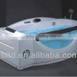 massage bathtub for couple design&Wooden skirt massage bathtub&acrylic water massage bathtubs