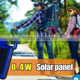 Solar power bank 8000mAh Solar USB Charger Emergency mobile phone travel charger