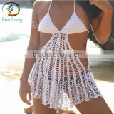 Crochet bikini ladies beachwear plus size triangle bikini top
