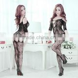 New Women's Sexy Lingerie Dress Underwear Lady Black Net dress Sleepwear Charmeuse Robe Lace Detail and G-String sexy