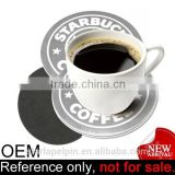 promotion cheap coffee souvenir aluminum custom metal drink cup coasters
