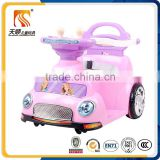 Lovely pink color good plastic baby kids electric toy car with early-children education function