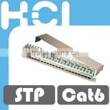 Network Solution RJ45 Shielded Cat6 8P8C Modular Patch Panel