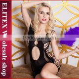 Wholesale fashion open lace hot sexy lingerie sheer nylon bodystocking