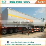 Hot sale 3 axles 40,000-60,000 liters army fuel tanker trailer / oil barrel trailer / fuel tank semi trailer