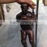 lost wax method casting bronze climbing soldier bronze statue