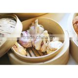 round or square shaped bamboo steamers set, 3 layer rice food steamer wholesale