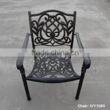 terrace furniture outdoor bistro chair aluminum/cast aluminum chair/embossed metal furniture holiday resort restaurant chairs