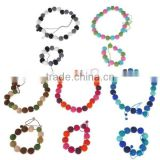 2017 hot new products alibaba website china supplier wedding promotional gift felt fabirc colorful bead landing bracelet design