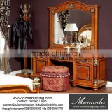 YB29 Bedroom furniture wooden dressers set drawer antique dressing table with mirror stool