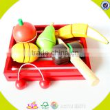 wholesale Simulation wooden fruit baby toy DIY cutting child toy role play knife wooden fruit DIY toy W10B122