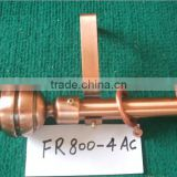 antique copper metal curtain rod with ball finals with best quality and competitive price