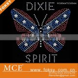 Dixie Spirit custom butterfly rhinestone transfer