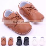 Solid Color Prewalker Girls Boy Leather Shoes