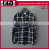 Mens quality flannel shirt checked long sleeve custom button up shirt design lumberjack flannel shirt