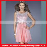 HC4272 The Whole Sale A LIne Sleeveless Sweetheart Chiffon Crystal Cocktail Party Sequins Diamond Cheap Dresses Made in China