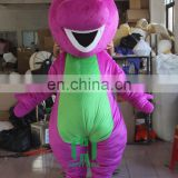 HI CE vivid mascot costlume for adult with super plush soft,movie character barney mascot costume for hot sale