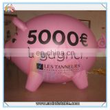 Cheap price mini inflatable pink pig,inflatable cartoon pig,inflatable advertising pig for sale