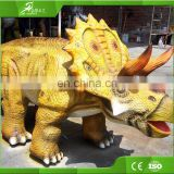 Amusement park walking dinosaurs kiddie rides