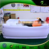 2 m White Inflatable Air Bed Replica Inflatable Bed Shape Bench Furniture Ornaments Couch Balloon