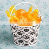 Cute Damask Design Pails/Bucket Wedding Favors