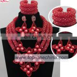 2017customized wedding jewelry\Handmade coral bead jewelry\African necklace for party