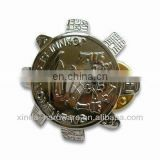 Metal Emblem Badge with Butterfly Pin,30mm,Made of Zinc Alloy,Various Designs Available