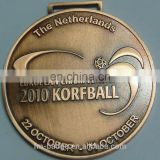 high quality antique copper plating sport metal medal, europe championship competitive sport medal