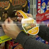 Attractive promotional supermarket shelf accessories