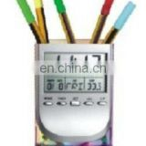 Digital Penholder Calendar Clock