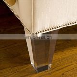 custom clear acrylic plastics furniture chair leg extensions risers furniture base legs